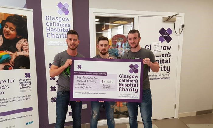 Grant soars over obstacles for charity