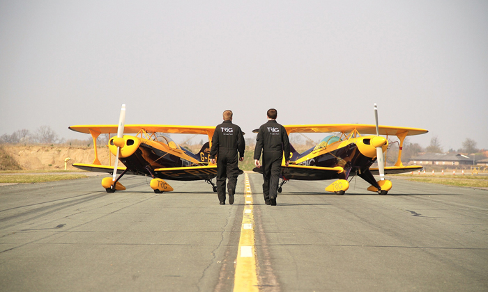 The Trig Aerobatic Team has landed – Ultimate Warbird Flights take off!